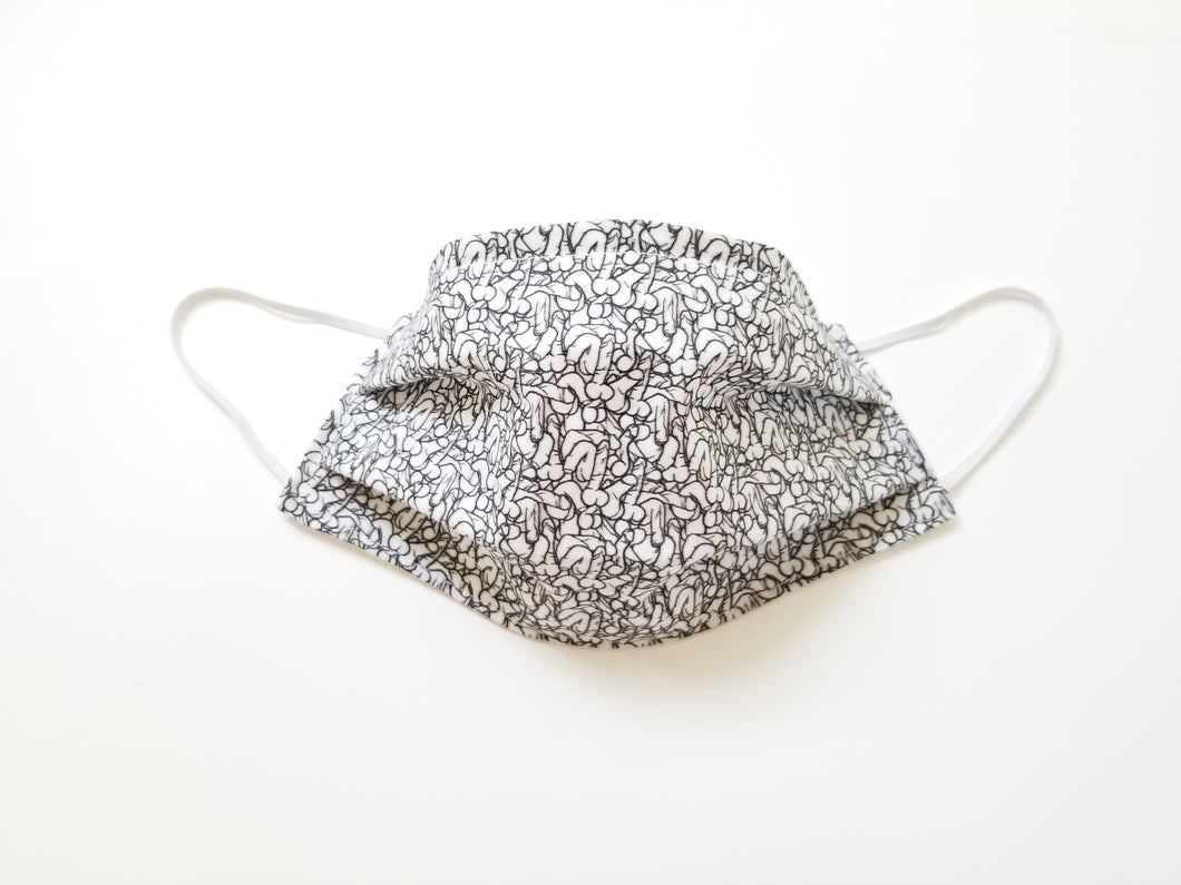 Teeny Peeny Reusable Cotton Face Mask. [With Nose Tab│Standard Size]