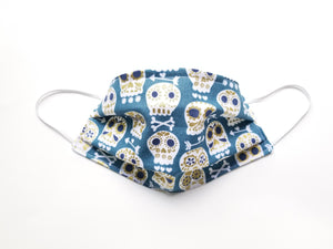 Sugar Skulls Reusable Cotton Face Mask. [With Nose Tab│Standard Size]
