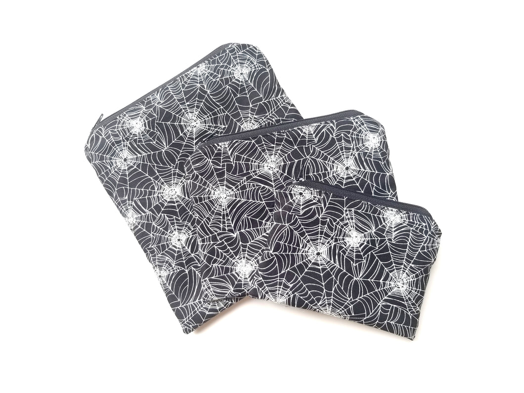 Spider Webs (Glow in the Dark) Reusable Food Safe Pouch