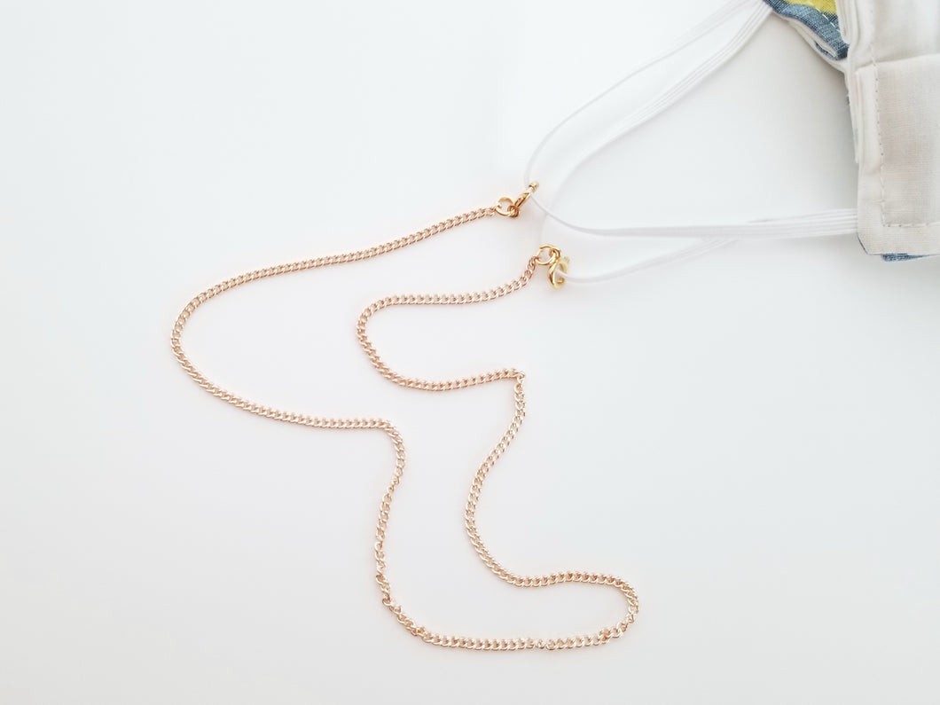 Gold Minimalist Mask Chain