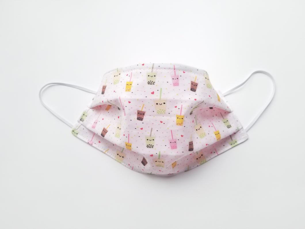 Bubble Tea Reusable Cotton Face Covering. [With Nose Tab│Standard Size]