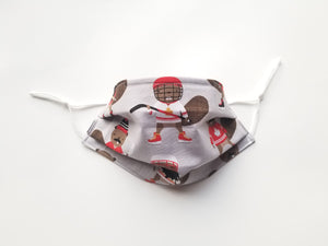 Hockey Beavers Reusable Cotton Face Covering. [ 2 Layer │With Nose Tab│Standard Size]