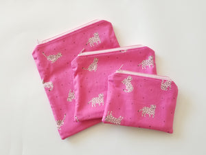 Pink Tigress Reusable Food Safe Pouch
