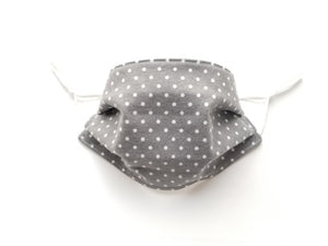 Picturesque Reusable Cotton Face Covering. [ Flannel Backside | 3-Layer │ Nose Tab│Adjustable Elastic ]