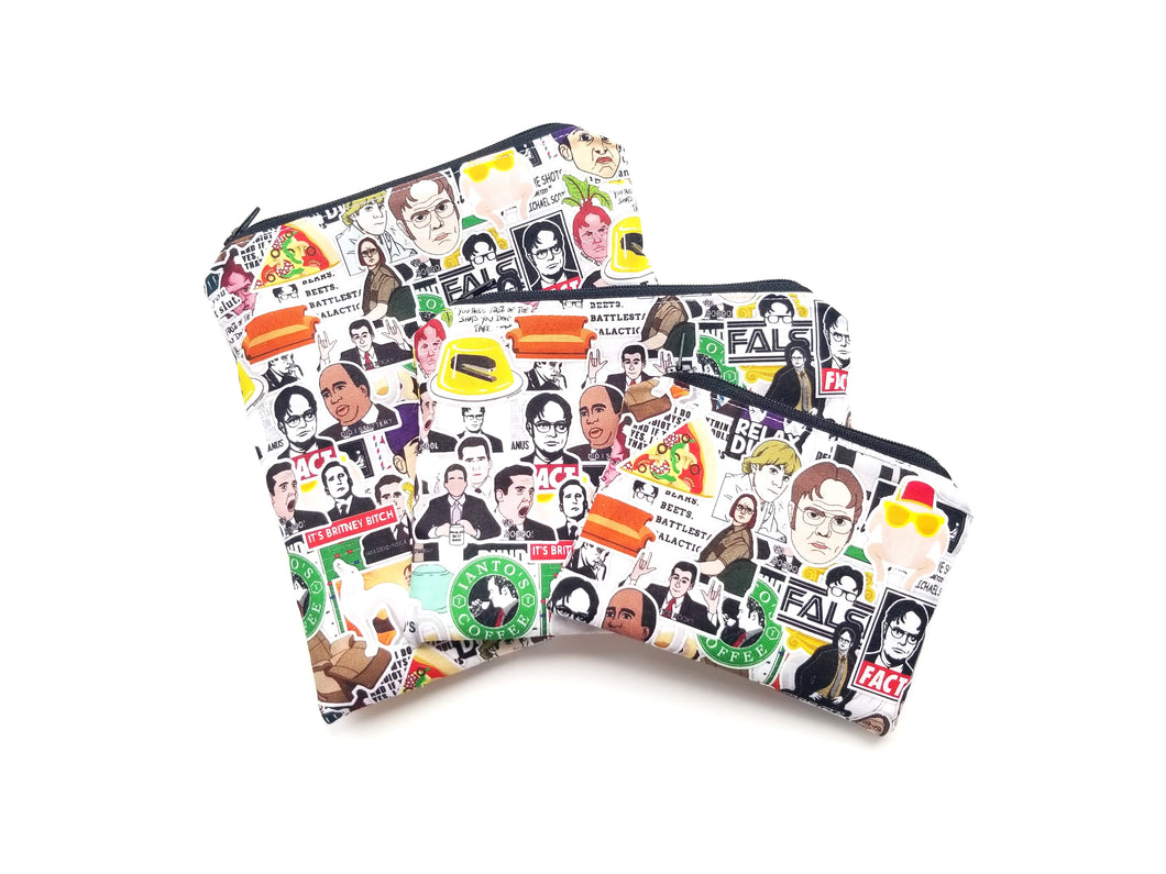 The Office & Friends Mashup Reusable Food Safe Pouch