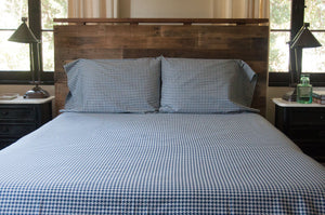 SHEET SET - HOUNDSTOOTH NAVY
