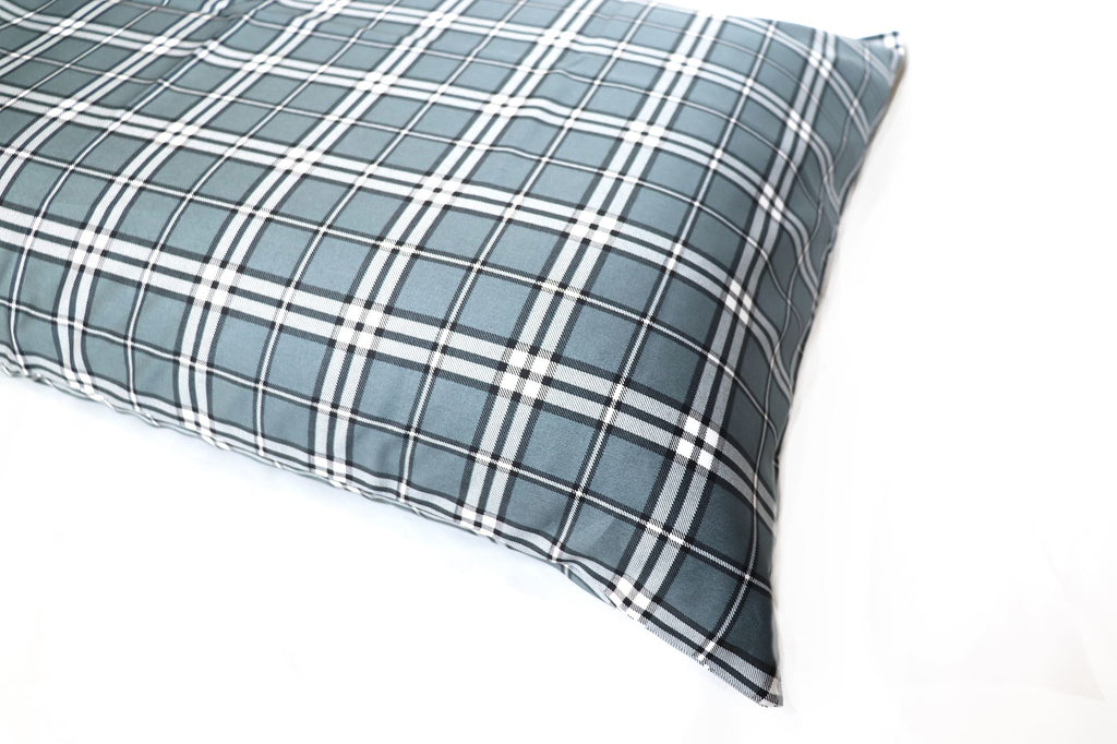 Additional Pillow Cases - Plaid Gray (two per package)