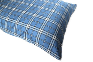 Additional Pillow Cases - Plaid Navy (two per package)