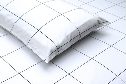 SHEET SET - WINDOWPANE (WHITE/NAVY)