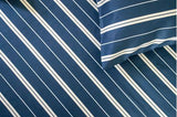 SHEET SET - VERTICAL STRIPES (NAVY)
