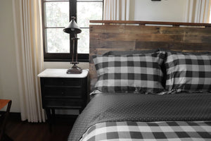BUFFALO CHECK (CHARCOAL/BLACK) - COMFORTER