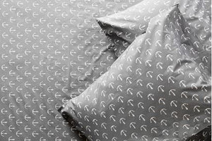 SHEET SET - ANCHORS BY DAVID HART (CHARCOAL)