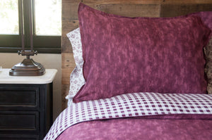CONCRETE BURGUNDY - DUVET COVER