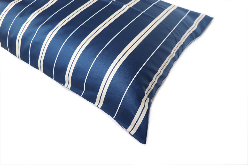 Additional Pillow Cases - Vertical Stripes-Navy (two per package)