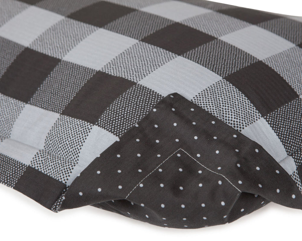 PILLOW SHAM - Malibu Buffalo Check (Black/Charcoal) (one per package)