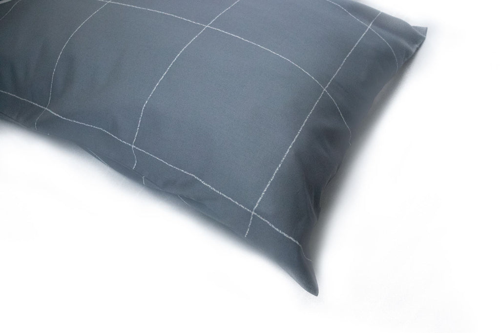 Additional Pillow Cases - Windowpane - Charcoal (two per package)