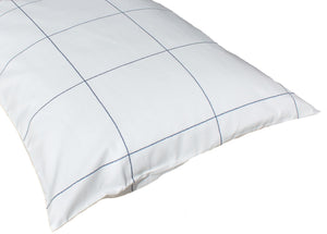 Additional Pillow Cases - Windowpane White/Navy (two per package)