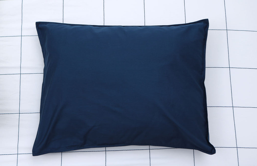 PILLOW SHAM - Solid Navy (one per package)
