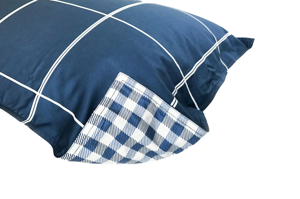PILLOW SHAM - Windowpane (one per package)