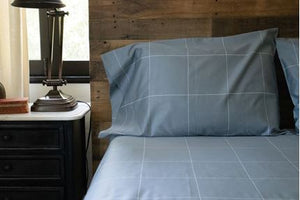 SHEET SET - WINDOWPANE (CHARCOAL)