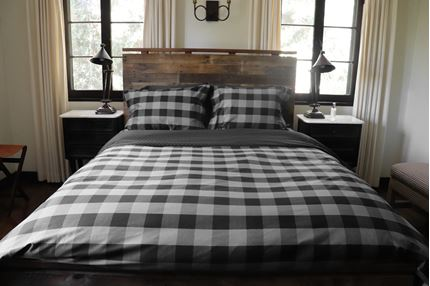 BUFFALO CHECK (CHARCOAL/BLACK) - DUVET COVER