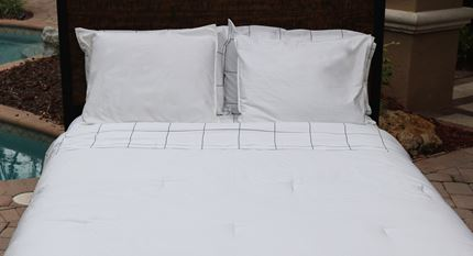 SOLID WHITE - DUVET COVER