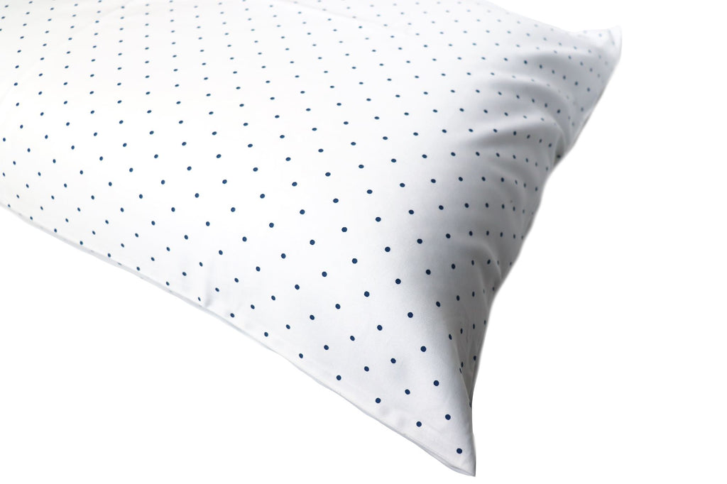 Additional Pillow Cases - Dots-Navy (two per package)