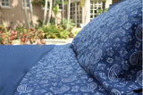SOLID NAVY - DUVET COVER