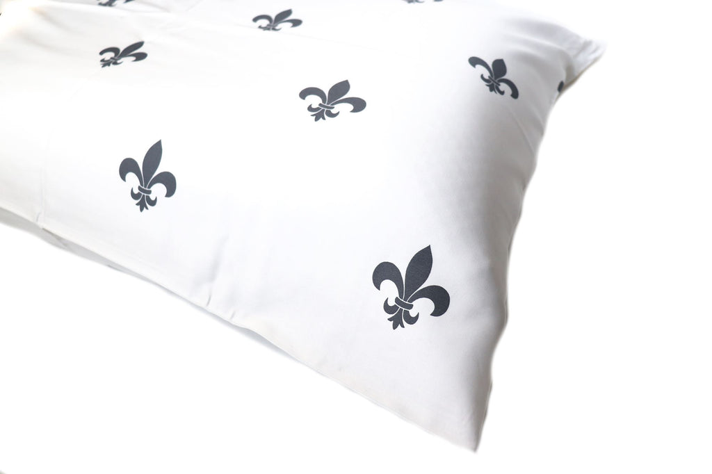 Additional Pillow Cases - Fleur-de-lis - Slate (two per package)