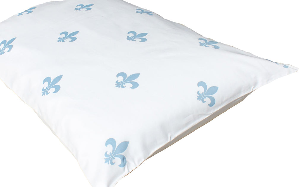 Additional Pillow Cases - Fleur-de-lis - whale blue(two per package)