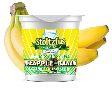 Stoltzus Family Dairy Yogurt: Pineapple-Banana