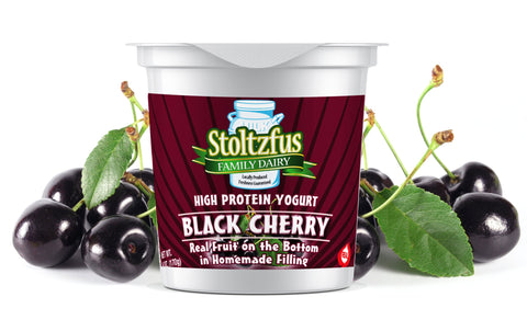 Stoltzfus Family Dairy Yogurt: Black Cherry