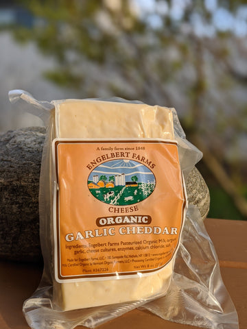 Organic Cheddar: Garlic (8oz)