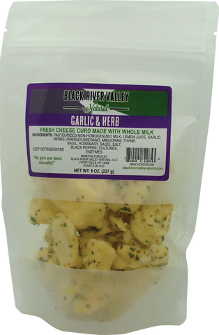 Cheese Curd: Garlic & Herb 8 oz