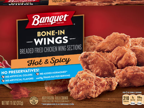 Banquet Spicy Chicken Wings 11 oz.