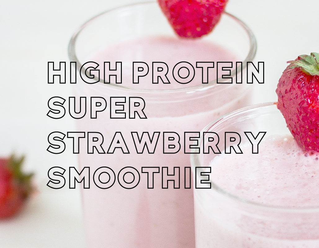 High Protein Strawberry Smoothie Mini Recipe Bundle