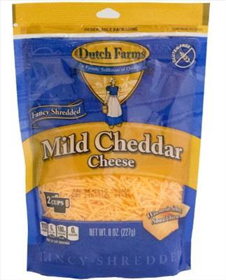 Shredded Mild Yellow Cheddar Cheese (8 oz)