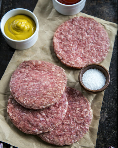 Organic Beef: Ground Beef Patties (4 per pkg)  1 lb. package