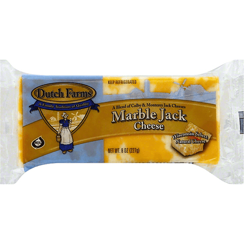 Marble Jack Cheese Chunk (8 oz)