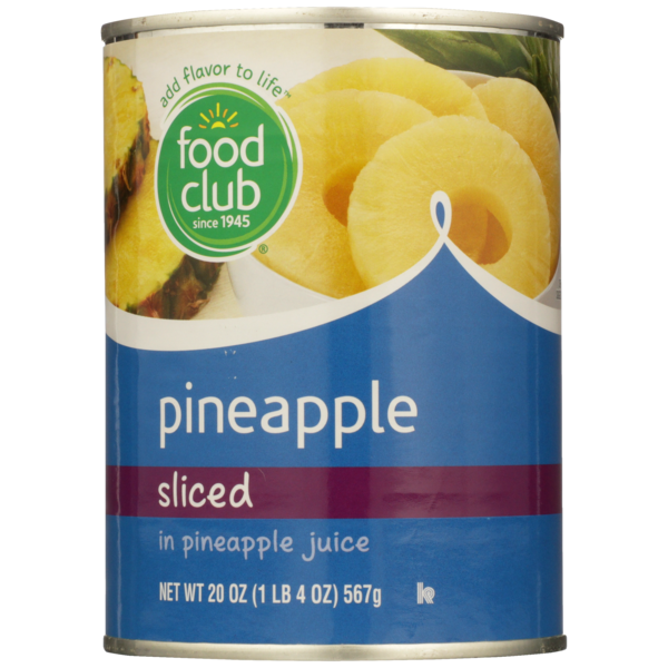 Sliced Pineapple 20 oz can