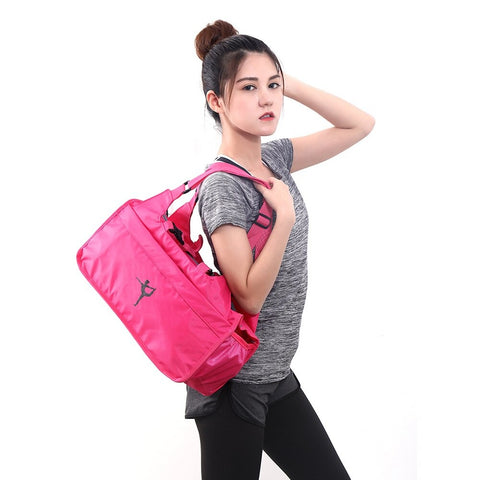 Yoga Mat Gym Bags Nylon Men Women Outdoor Training Fitness Travel Sport Workout Handbag with Shoes Compartment Outdoor Accessory