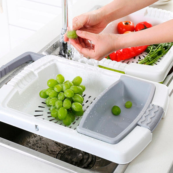 3-in-1 Vegetable/Fruit Drain Sink Rack & Holder