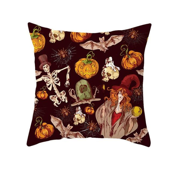 Halloween Celebration Decorative Cushion Cover