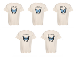Blue Butterfly Sorority Tee