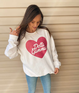 Barbie Script Heart Sorority Sweatshirt