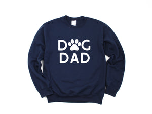 Dog Dad Paw Print Sweatshirt