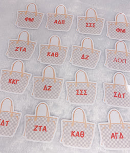 LV Large Purse Sorority Sticker