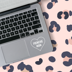 Frenchie Mom Heart Outline Sticker