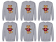 Teddy Bear Greek Letters Sorority Sweatshirt