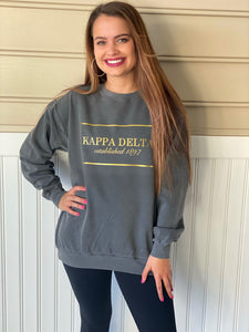 Comfort Colors Rectangle Established Sorority Sweatshirt